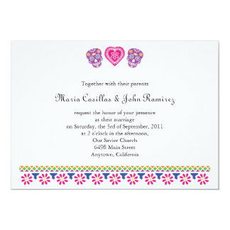 """Till Death Sugar Skulls Banner 5"""" X 7"""" Invitation Card"""