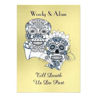 Till Death Us Do Part Sugar Skull Tattoo Design Custom Announcement