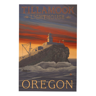 Tillamook Lighthouse Vintage Travel Poster