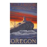 Tillamook Lighthouse Vintage Travel Poster Canvas Print