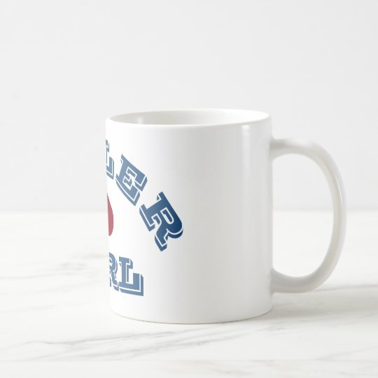 """Tiller Girl"" Narrowboating Mug"
