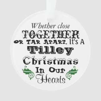 Tilley Christmas Ornament