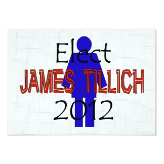 Tillich For President 13 Cm X 18 Cm Invitation Card