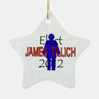 Tillich For President Ceramic Star Decoration