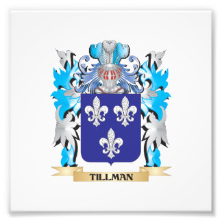 Tillman Coat of Arms - Family Crest Photographic Print