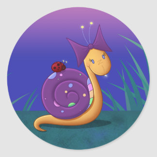 Tilly the Snail Classic Round Sticker