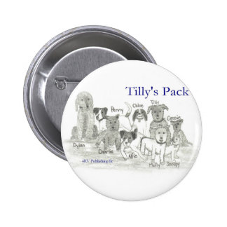 Tilly's Pack 6 Cm Round Badge