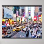 Tilt-shift - Time Square - New York Poster