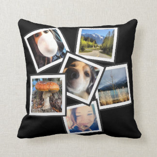 Tilted Cool  6 Instagram Photo Collage Cushion