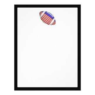 Tilted Football With American Flag Design (1) Full Color Flyer