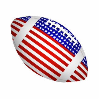 Tilted Football With American Flag Design (1) Standing Photo Sculpture