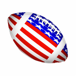 Tilted Football With American Flag Design (2) Standing Photo Sculpture