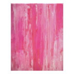 'Tilted' Pink Abstract Art Poster Print