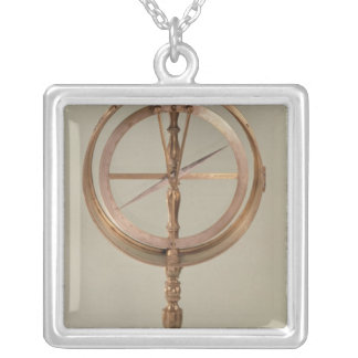 Tilting Compass belonging to Count Grandpre Silver Plated Necklace