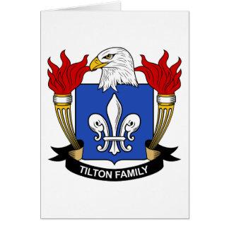 Tilton Family Crest Greeting Card