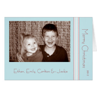 Tilton - Mint Blue and Red - Christmas Card