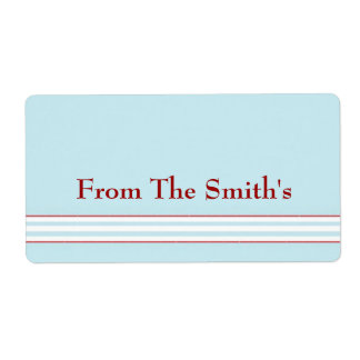 Tilton - Mint Blue - Gift Tag Shipping Label