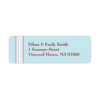 Tilton - Mint Blue - Return Address Label