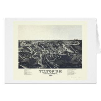 Tilton, NH Panoramic Map - 1884 Greeting Card