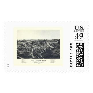 Tilton, NH Panoramic Map - 1884 Postage