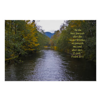 Tilton River Print w/Scripture Verse