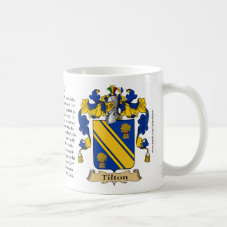 Tilton, the Origin, the Meaning and the Crest Basic White Mug