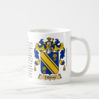 Tilton, the Origin, the Meaning and the Crest Basic White Mug