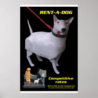 tim hunkin's rentadog poster
