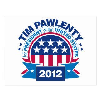 Tim Pawlenty for President 2012 Postcard