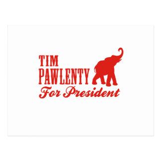 TIM PAWLENTY FOR PRESIDENT (GOP) POST CARD