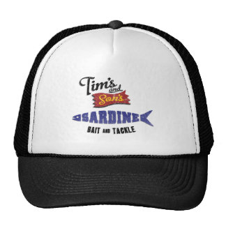 Tim s and Son s Sardine Bait and Tackle Shop Hats