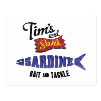 Tim s and Son s Sardine Bait and Tackle Shop Post Card