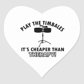 TIMBALES instrument designs Heart Sticker