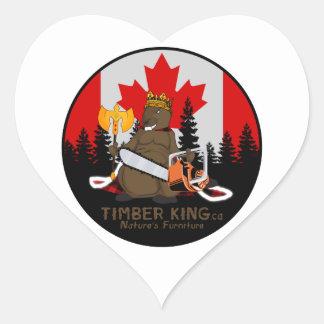 Timber King Log Furniture Manitoba Heart Sticker