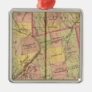 Timber lands 3 Map 2 Christmas Ornament