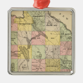 Timber lands 5 Map Atlas Christmas Ornament
