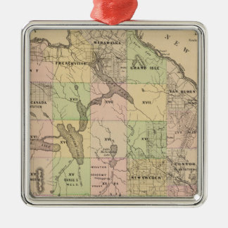 Timber lands 5 Map Christmas Ornament