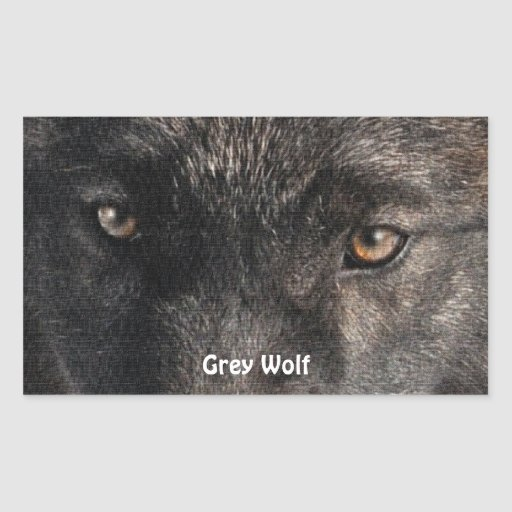 TIMBER WOLF EYES Wildlife Supporter Stickers