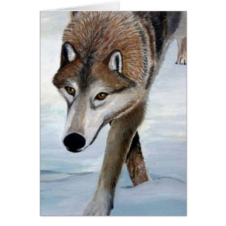Timber Wolf Greeting Cards