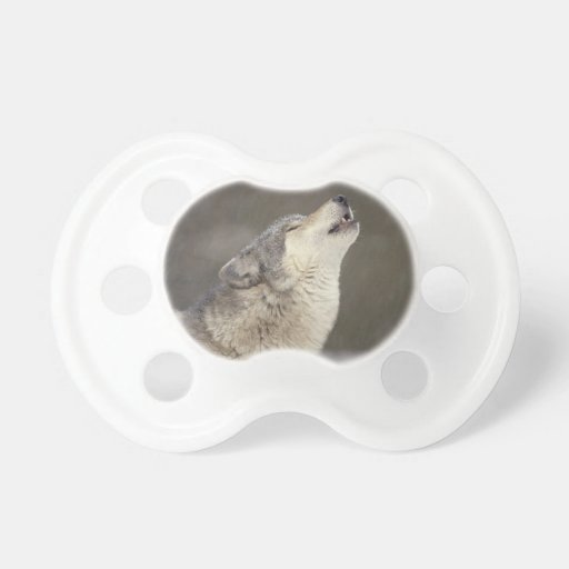 Timber Wolf Howling Pacifier