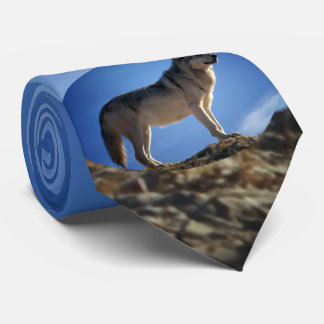 Timber Wolf in Montana - Big Sky Country Tie