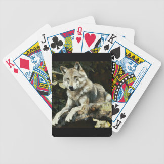 Timber Wolf Painting Poker Deck