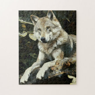 Timber Wolf Painting Puzzles