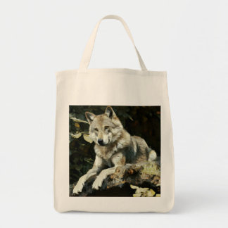 Timber Wolf Painting Tote Bag