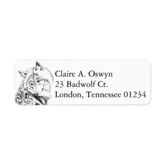 Timber Wolf Return Address Labels
