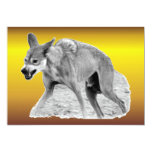 "Timber Wolf Snarl 5"" X 7"" Invitation Card"