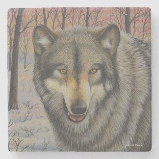 Timber Wolf Stone Beverage Coaster