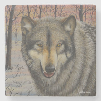 Timber Wolf Stone Coaster