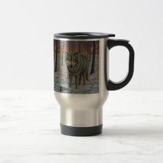 Timber Wolf Travel Mug