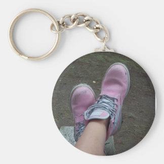 Timberlands Basic Round Button Key Ring